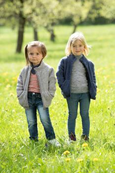 Engel Kinder-Jacke mit Zipper Wollfleece (blau-melange)